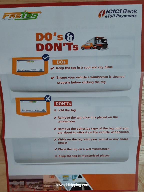 Do's & Don'ts of FASTag