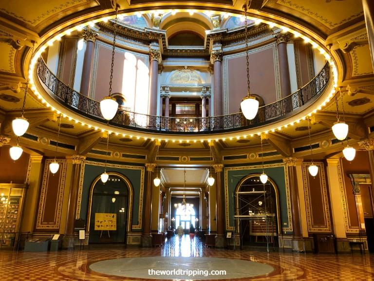 Impressive interiors of Iowa State Capitol- Neoclassical, Renaissance Revival Architecture