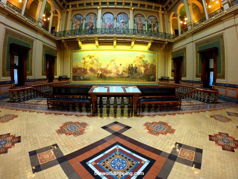 Second Floor of Iowa Capitol Building