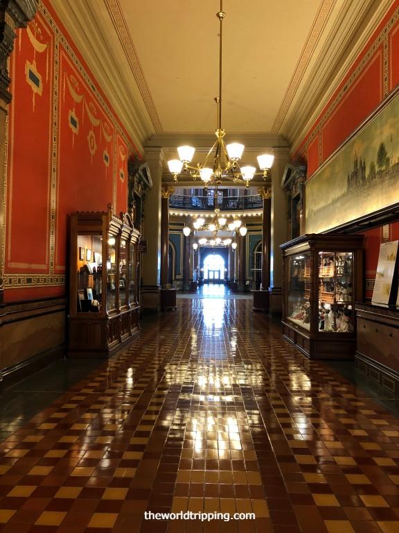 Decorative Walls and Tiles of Capitol Building interior