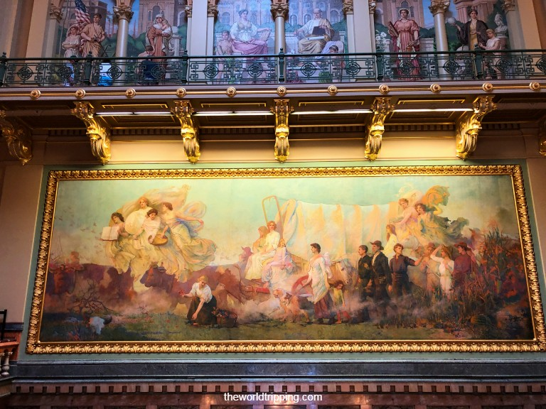 Westward - mural painting in Iowa State Capitol