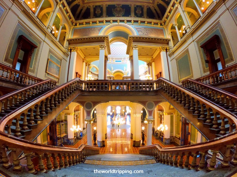 Grand Staircase in Iowa State Capitol Building