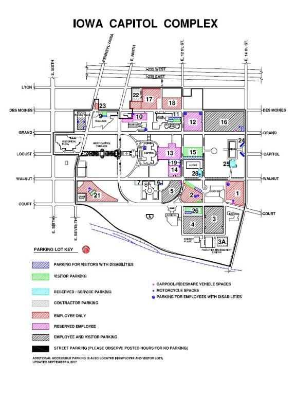iowa capitol complex parking