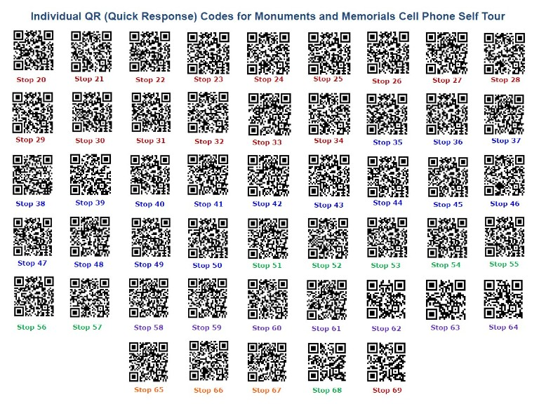 QR codes for cell phone self guided tours