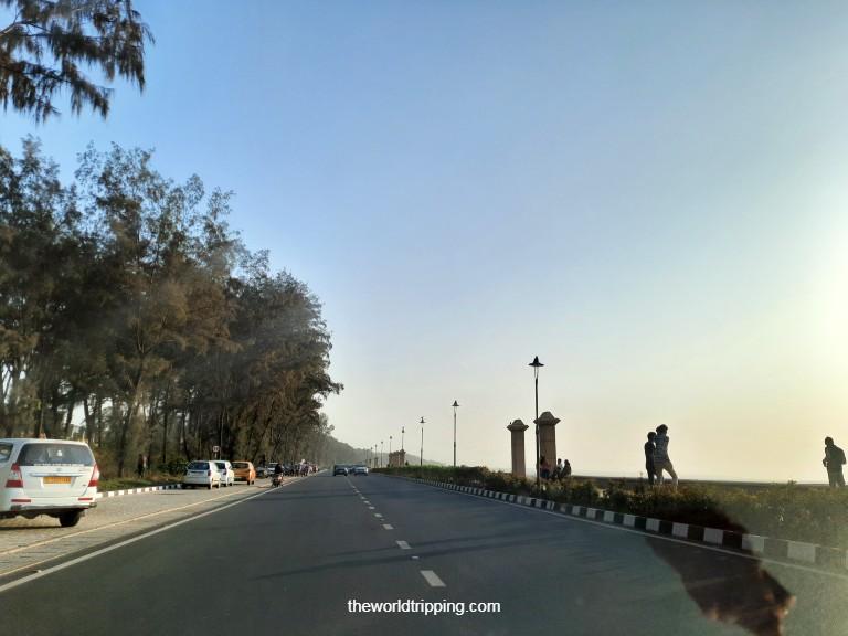 Parking at Jampore Beach, Daman