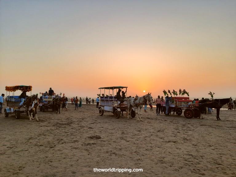 Horse ride at Jampore Beach