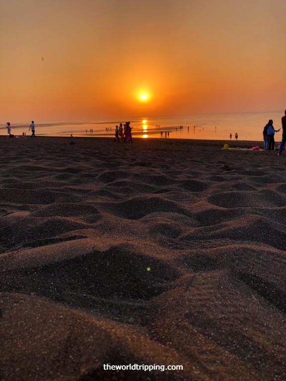 Sunset at Moti Daman Beach, Daman