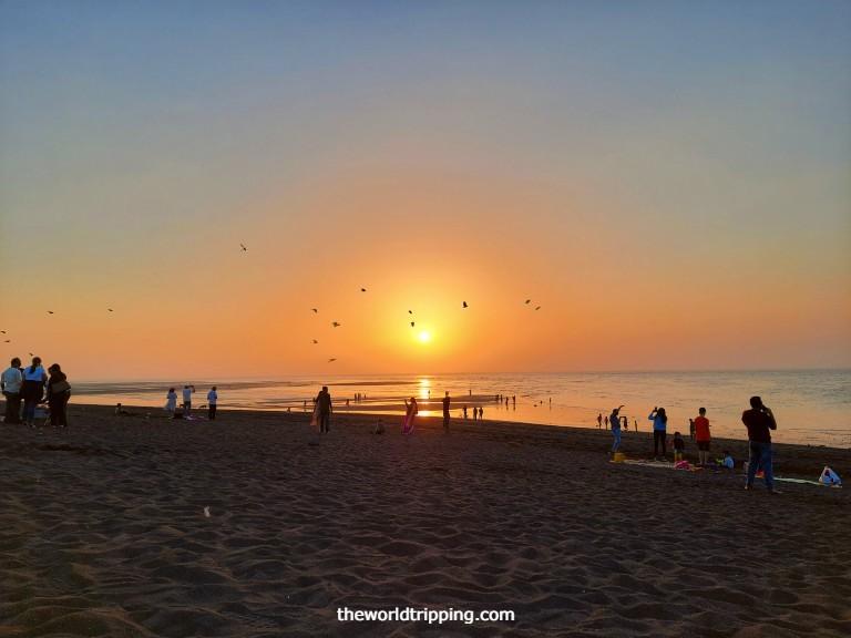 Memorable evening at Moti Daman Beach