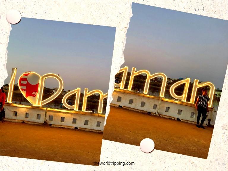 Jetty De Damao Grande - I Love Daman Signboard